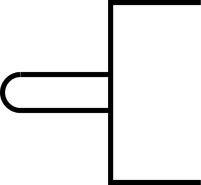 Symbol Tappet On Vent clip art