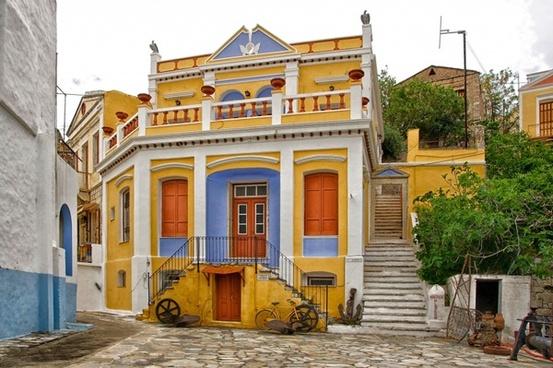 symi greece buildings