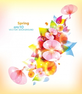 spring background blooming flowers ketch bright sparkling multicolored