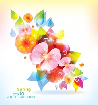 spring background sparkling colorful petals modern design