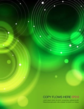 technology background green bokeh design circles decor