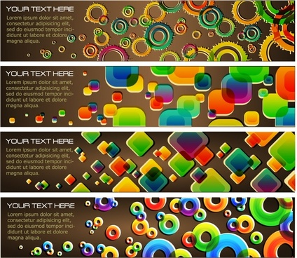 banner templates modern colorful geometric decor