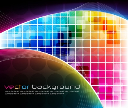 technology background modern colorful squares decor
