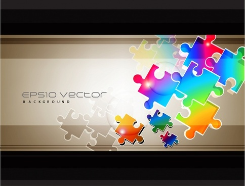 puzzle joints background colorful modern shiny flat design