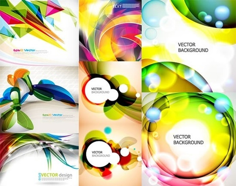 decorative background templates sparkling colorful modern bokeh decor