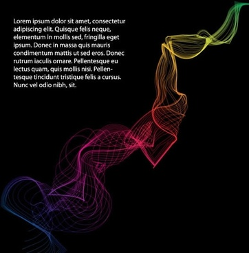 symphony dynamic lines vector smoke