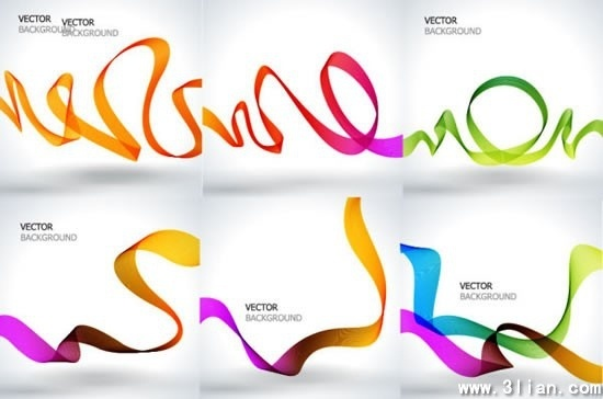 decorative background templates bright colorful 3d dynamic lines