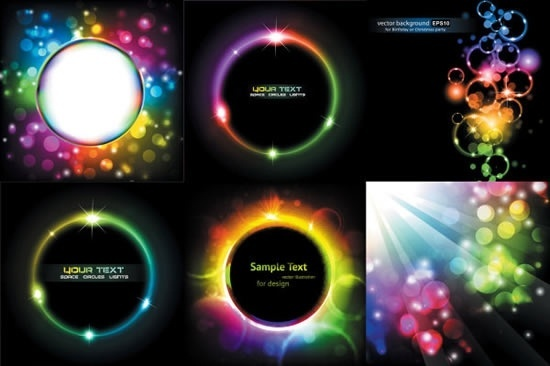 decorative backgrounds gorgeous colorful sparkling bubbles modern design