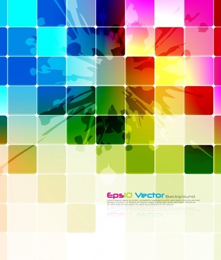 decorative background template colorful modern grunge squares decor
