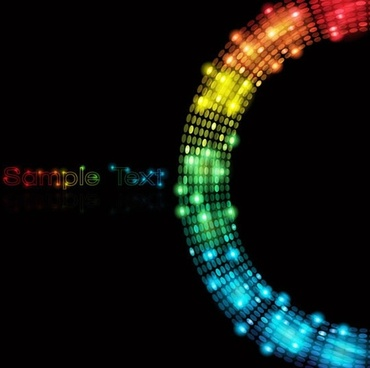 decorative background modern colorful bokeh lights circle design