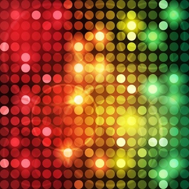 symphony luminous dots background vector