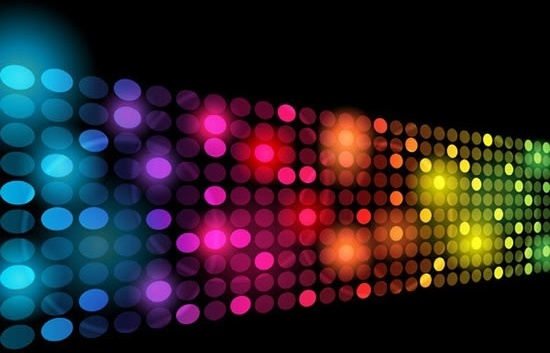 decorative background twinkling colorful lights effect