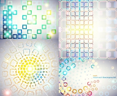 symphony of circular and square background vector