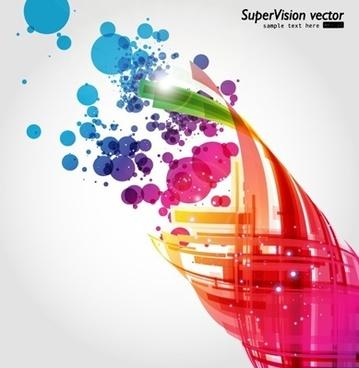 symphony of dynamic light vector background 2