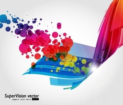 symphony of dynamic light vector background 3