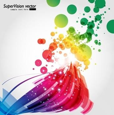 symphony of dynamic light vector background 4
