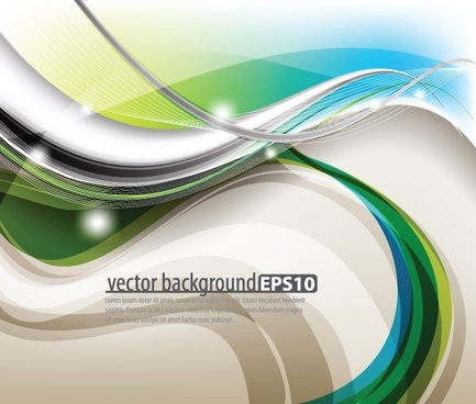 symphony of dynamic lines of the background vector 3