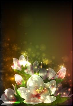 floral background modern twinkling bokeh decor