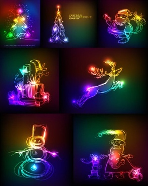 symphony of light christmas vector graphics