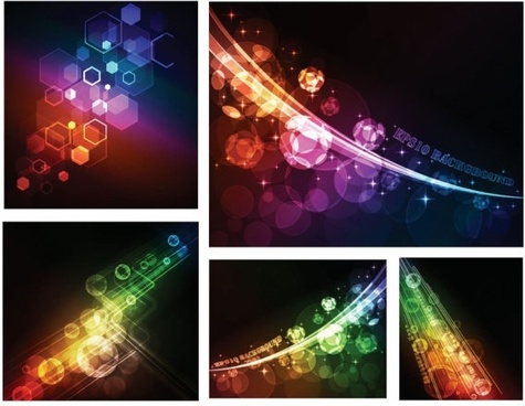 symphony of light vector background dream