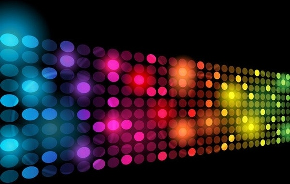 symphony of light vector dot background 2