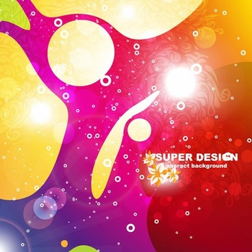 abstract background colorful shiny design flat bubbles decor