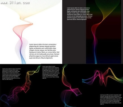 decorative smoke icons colored dynamic 3d design