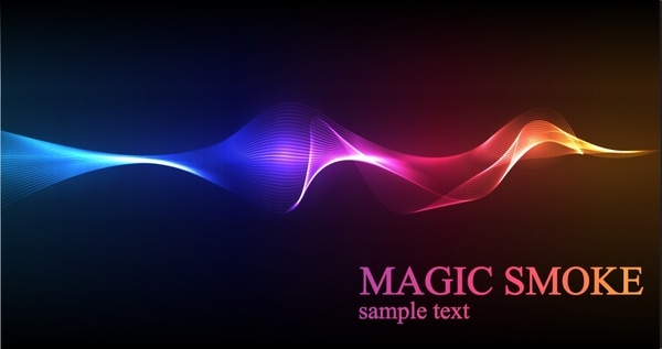 decorative background colorful sparkling dynamic 3d light effect