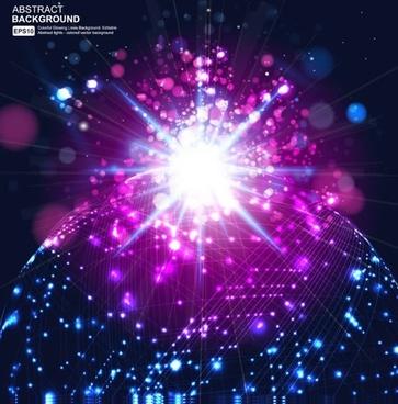 symphony starry background vector