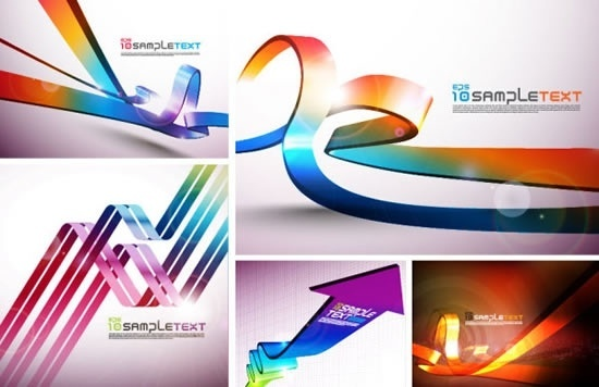 decorative background templates modern colorful sparkling 3d motion