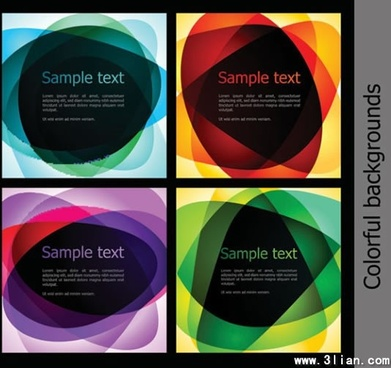 decorative background templates colorful abstract transparent shapes