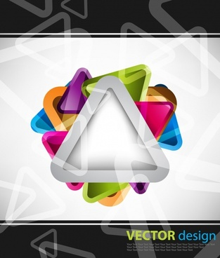 decorative background shiny modern colorful triangles layout
