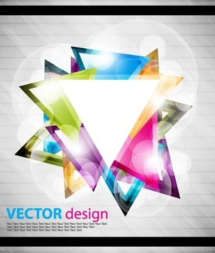 decorative background modern sparkling colorful triangles decor