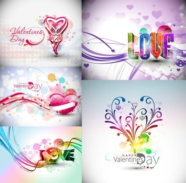symphony valentine day decorations vector