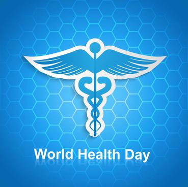syringe for world health day medical symbol concept background