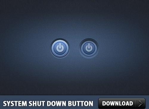 System Shut Down Button PSD