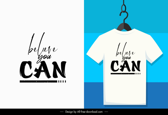 t shirt decor elements calligraphic quoting design