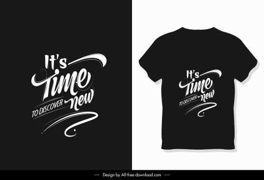 t shirt decor template black design wording decor