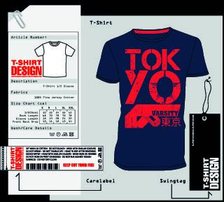 t shirt print and tag design vector