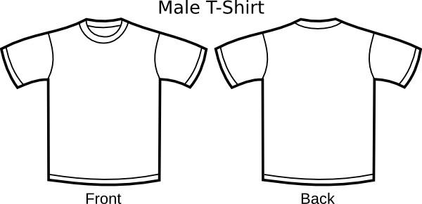 T Shirt Template clip art