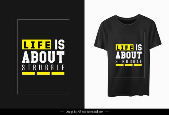 t shirt template modern simple quotation decor