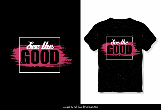 t shirt template wording decor dark design