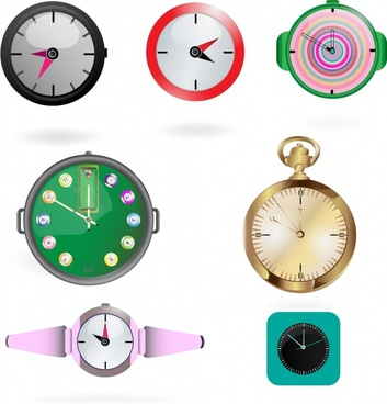 watch surface templates modern circle decor