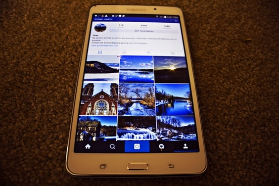 tablet with instagram