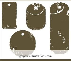 Tag shapes Photoshop brushes