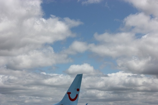 tail end of a airplane