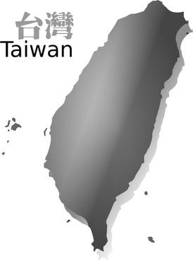 Taiwan map (R.O.C.) grey ver