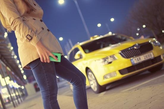 take taxi