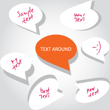 talking around for you text design elements vector