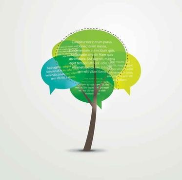 Talking Tree Vector Graphic